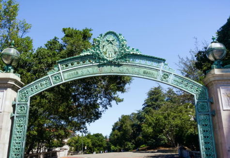 Historic Sather Gate at the University of California at Berkley.