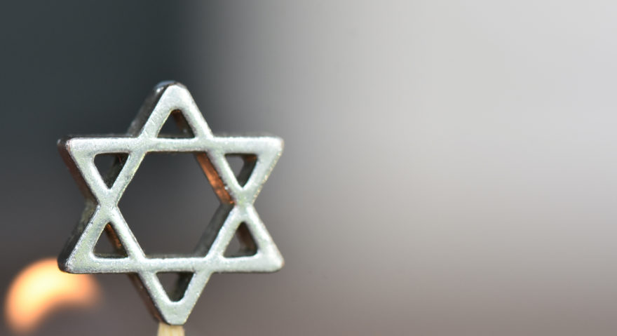 A metal six-pointed 'Star-of-David'.